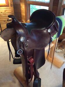 "16"" RW Bowman Ole No.3 Trail Saddle, FQHB, almost new!"