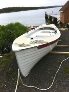 17.5' Norseboat Row Boat Electric Outboard Motor