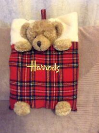 Harrods hot water bottle cover