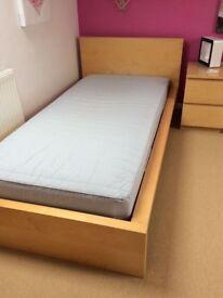 Malm Birch Veneer Single Bed