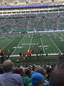 Two tickets for Riders vrs Lions