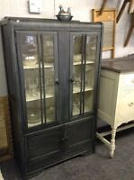 REFINISHED ANTIQUE CABINET- now $348!!