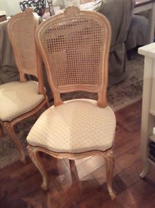 6 chaises salle à manger style Louis XV parfait état comme neuve
