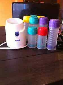 Bottle warmer and Playtex bottles