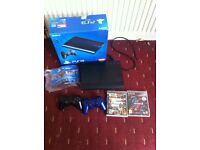 Sony playstation ps3 super slim 500gb console with games