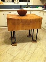 Vintage Solid Wood Butcher Block/kitchen island