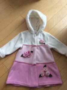 Pink flower coat size 18-24 mths