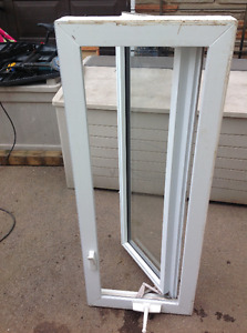 "VINYL WINDOW 18""W X 48""L - GOOD SOLID CONDITION"