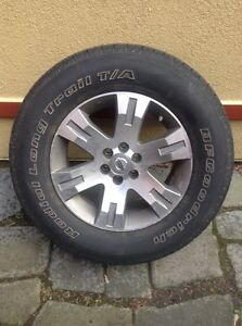 Nissan Pathfinder LE/SE rims with summer tires