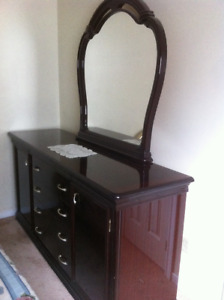 moving sale--amazing mahogany full bedroom set