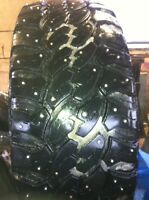 Mobile tire studding-(new or used) with or without stud holes