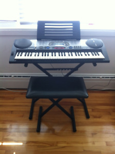 Piano clavier Casio banc et support