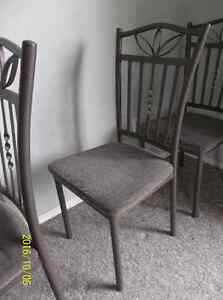 3 metal chairs, in good condition, $7 each for pick up only