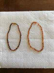 Amber teething necklace(s) THEY WORK!