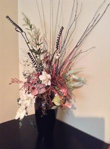 Vase et fleur séchées