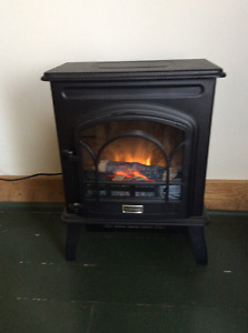 Small electric wood stove