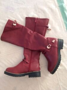 Burgundy boots $30 NEW