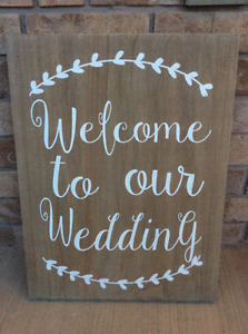 Wedding Decor - Rustic Welcome Sign