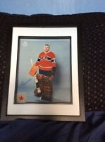 Montreal Canadiens Gump Worsley signed and framed photo