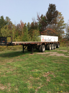 4 Flat bed trailers
