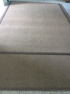 "8' x 5'9"" BROWN 'Better Than Sisal' Rug $85.00 Like New"