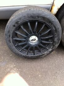 "TWO ONLY 16"" team dynamic alloys 4x100"