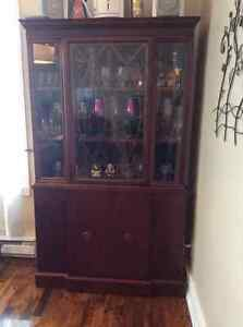 Antique Queen Anne china cabinet for $700