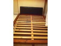 Kingsize wooden bed frame