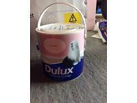 Dulux Matt 2.5l sorbet pink paint unopened