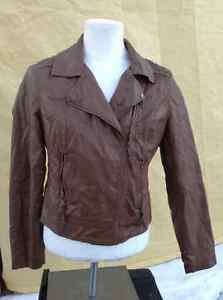 2 ladie's coats for 1 price - brown moto & green army