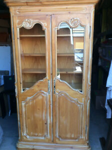 Solid Pickled Pine Distressed Cabinet + Free Delivery