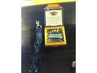 Harley Davidson belt buckle and key holder / fob in leather