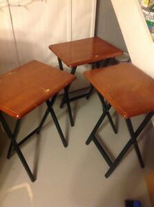 Wood foldable tables