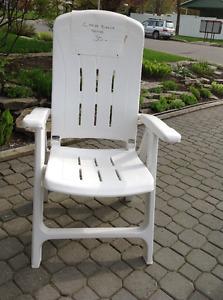 chaise extérieur résine blanche neuve