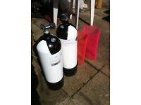 2 Faber diving bottles 12L
