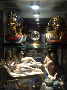 Collection 10 Figurines Nadal Egyptian 24 carats plac Or