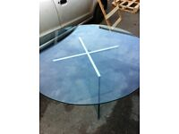 Glass dinning table.
