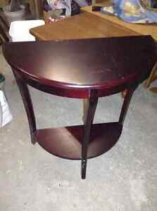 Solid wood half moon table for sale London Ontario image 1