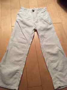 Old navy boys white linen pants size 5 worn once