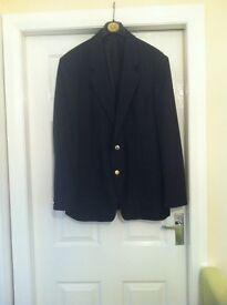 Mens black blazer size 42m chest