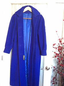 Cashmere/Wool designer rich blue size 12coat. Like new. Edmonton Edmonton Area image 5