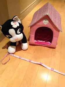 Build a Bear Cat with House and Leash Kitchener / Waterloo Kitchener Area image 1