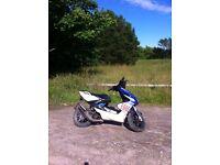 Yamaha aerox 100cc swap for 125 with gears