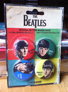 The Beatles Official Button Badge Pack
