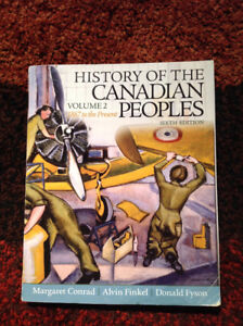 History of the Canadian People's.  Vol 2. 6th Ed 1867-present