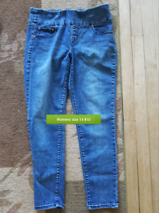 2 pairs of jeggins jeans size 14