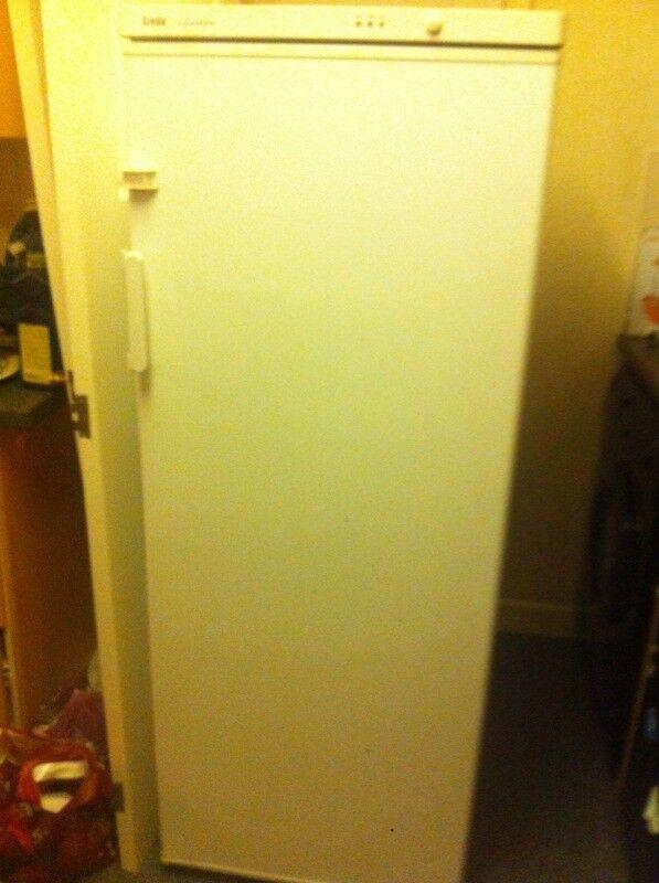 Tall white freezer