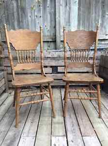 Two large wooden chairs Kingston Kingston Area image 1