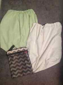 Wet dry bags for cloth diapering