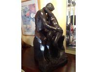 The kiss a sculpture copy of Rodin,s original